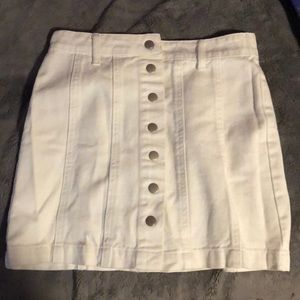 Forget 21 white button up skirt